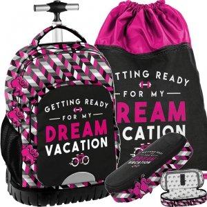 Modny Dziewczęcy  Plecak na Kółkach Młodzieżowy Barbie [BAE-1231]
