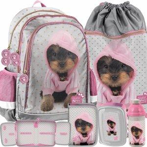 Nowoczesny Plecak dla Dziewczyny Piesek York Szkolny Paso [PTJ-081]