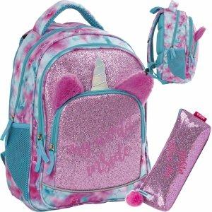 Jednorożec Plecak BackUP Młodzieżowy z Uszami Różowy [PLB3Y57]