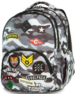 Plecak CP CoolPack  z Naszywkami Moro Młodzieżowy [A16111]