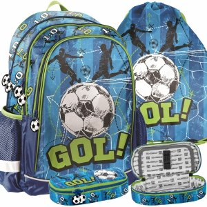 Piłka Nożna Plecak dla Fana Futbolu do Szkoły Zestaw Paso [PP20FB-081]