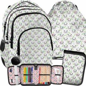 Pandy Plecak Szkolny Paso dla Dziewczyny Misie Zestaw 3w1 [PP21PN-2706]