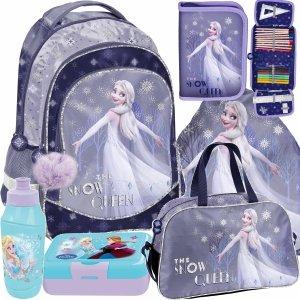 Szkolny Plecak Kraina Lodu Plecak Szkolny dla Dziewczynek zestaw 6w1 [DOK-181]