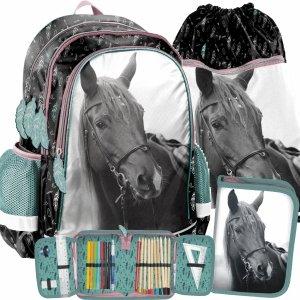 Plecak dla Dziewczynki z Koniem Koń Zestaw 3w1 [PP21KE-081]