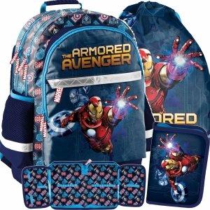 Plecak Avengers Szkolny Chłopięcy Iron Man Paso [AIN-116]