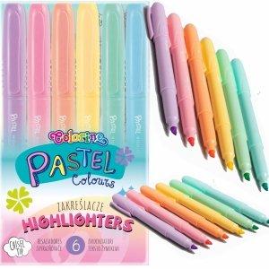 Zakreślacze Pastelowe 6 Kolorów Colorino Markery Patio [84965PTR]