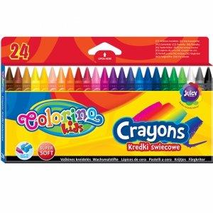 Kredki Świecowe Colorino 24 Kolory Woskowe Szkolne [13895PTR]