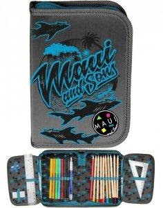 Piórnik Maui&Sons dla Chłopaka z Wyposażeniem Szkolny [MAUM-001]