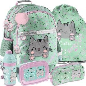 Plecak Szkolny Kotki  dla Dziewczyny Paso Miętowy [PP21CA-116]