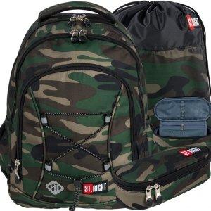 Moro Młodzieżowy Plecak St.Right Komplet Kamuflaż Khaki [BP32]