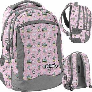 Kaktusy Plecak Młodzieżowy Szkolny Dziewczęcy Różowy [PPMX20-2808]