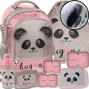 Plecak z Uszami Szkolny z Misiem Pandą dla Dziewczyny Zestaw [PP20PA-260]