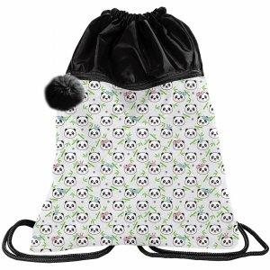Duży Worek Plecak na Sznurkach 2-komorowy Pandy Panda Paso [PP21PN-713]