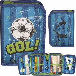 Wyposażony Piórnik Piłka Nożna dla Chłopaków Rozkładany [PP20FB-001]