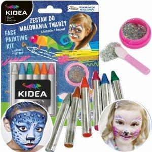 Kredki do Malowania Twarzy 6 Kolorów dla Dziecka Kidea [ZMTAKA]