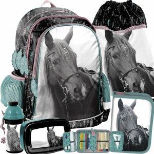 Plecak dla Dzieci z Koniem Koń Zestaw do Szkoły Podstawowej [PP21KE-081]