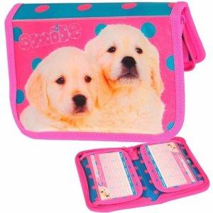 Piórnik z Wyposażeniem Pies Piesek dla Dziewczynki [13-001E]
