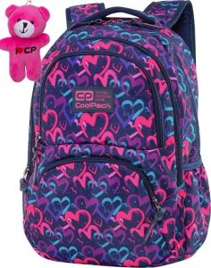 CoolPack Plecak w Serca CP dla Dziewczynki Dart DRAWING HEARTS BLUE [C19141]