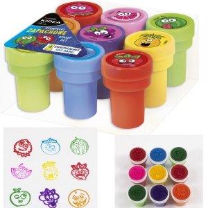 Stempelki Ozdobne Dla Dzieci Pieczątki Kolorowe Kidea [SOA9KA]