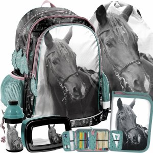 Konie Plecak dla Dziewczyny z Koniem Koń Zestaw 5w1 [PP21KE-081]