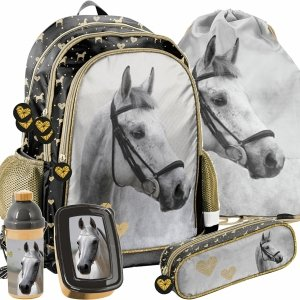 Plecak Szkolny Złoty Koń dla Dziewczynki na Zajęcia Szkolne [PP20H-081]