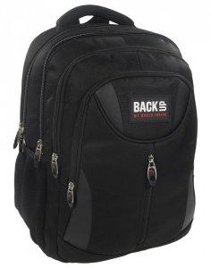 Plecak Młodzieżowy BackUP Czarny Sportowy [PLB1E27]