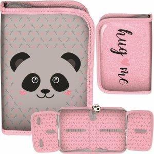Piórnik Dziewczęcy z Misiem Panda Rozkładany [PP20PA-001BW]