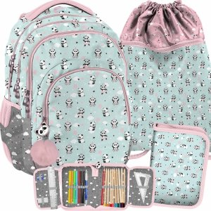 Szkolny Plecak dla Dziewczyny z Misiami Panda Paso [PP21PD-2706]