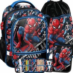 Nowoczesny Plecak Szkolny dla Chłopaka do 1 klasy Spiderman Komplet [SPW-260]