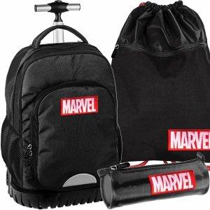 Plecak Marvel Duży z Kołami Młodzieżowy Czarny Szkolny [AMAR-1231]