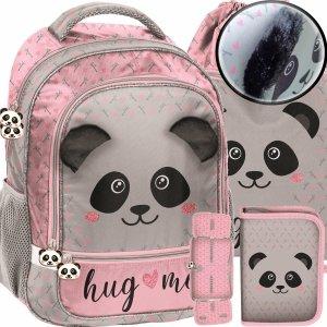 Plecak do Szkoły dla Dziewczynki Misiu Panda z Uszami Pluszowymi [PP20PA-260]
