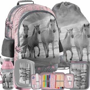 Szkolny Zestaw Plecak dla Dziewczyny Paso Konie [PP21HO-116]