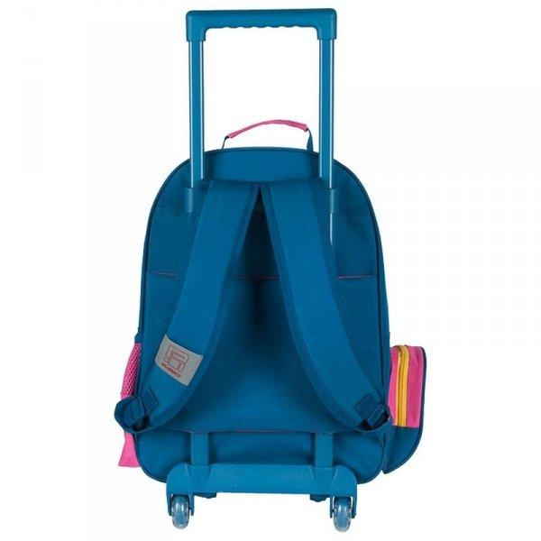 plecaki szkolne na kółkach niebieski różowy