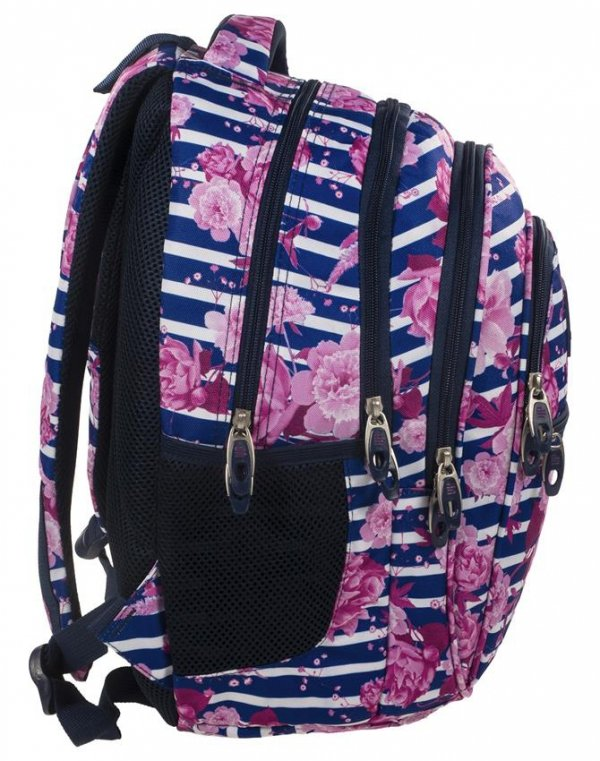 Plecak Kwiaty Młodzieżowy Back UP Szkolny Zestaw [PLB1B34]