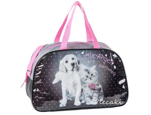 torba dziecięca sportowa z pieskiem kotkiem dla dziewczynki pies kot