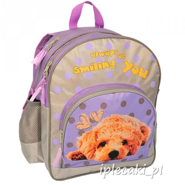 Zestaw Szkolny 3w1: plecak szkolny   piórnik z wyposażeniem  worek gimnastyczny z pieskiem