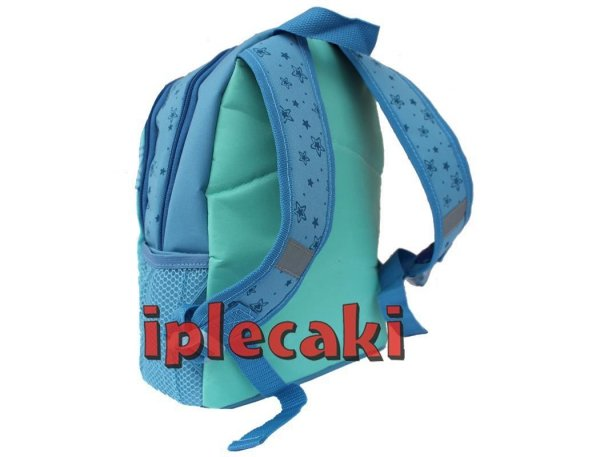 plecak przedszkolny z kotkiem niebieski zielony dla dziewczyny
