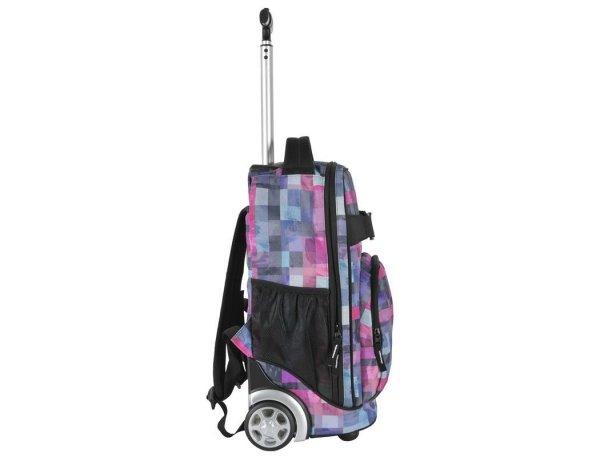 Plecak Szkolny na Kółkach Młodzieżowy Krata Kolorowa