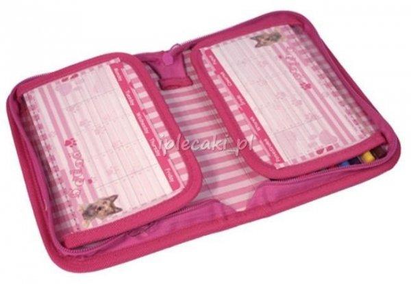 Plecak szkolny piórnik z wyposażeniem worek na obuwie z Pieskiem Pies Zestaw 24-080