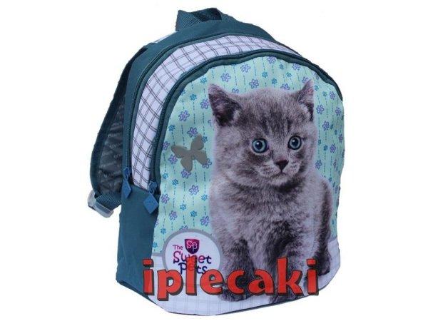 plecak kot z kotem dla dziewczynki przedszkolny