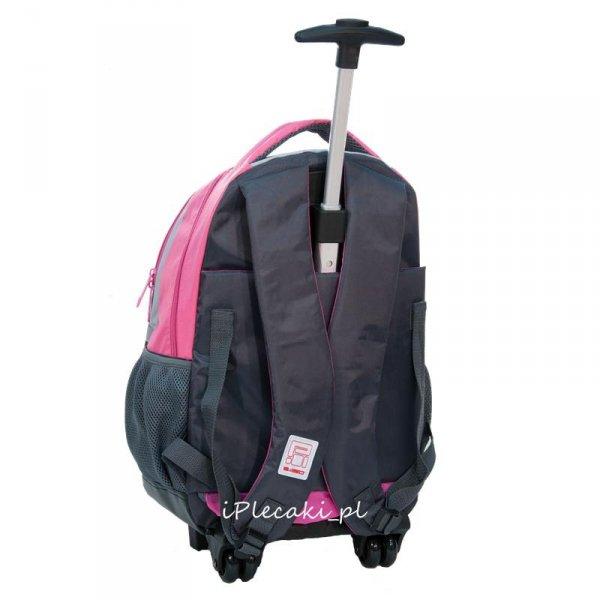 Plecak na Kółkach z Pieskiem Kotkiem Różowy Szary [RHM-997]