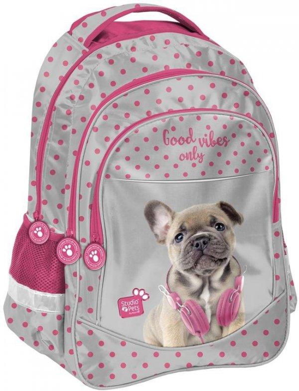 Plecak Szkolny Piesek w Słuchawkach dla Dziewczyny [PES-181]