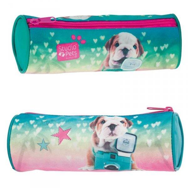 Piórnik Pies Piesek Szkolny Tuba dla Dziewczyny Zielony
