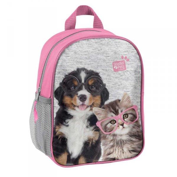 Plecak Przedszkolny Plecaczek z Kotkiem i Pieskiem na Wycieczki dla Dziewczynki PEN-303