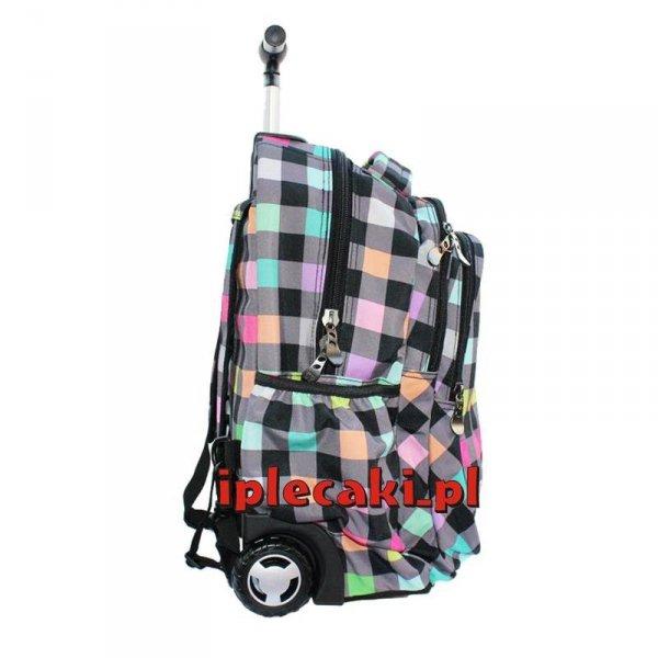 plecaki szkolne na kółkach cp coolpack w kratkę