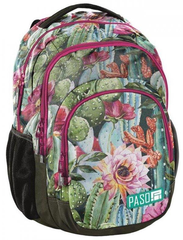 Plecak Młodzieżowy Szkolny Kwiaty i Liście (18-2706LO)