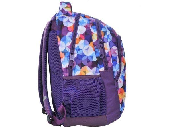 Plecak Młodzieżowy Szkolny Fioletowy Trówymiarowy