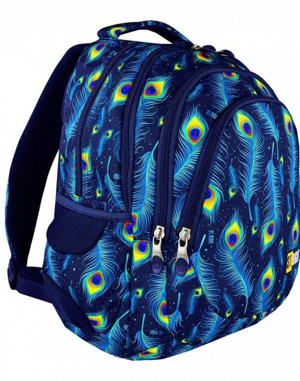 Plecak Szkolny Młodzieżowy St.Right Peacock [BP6]