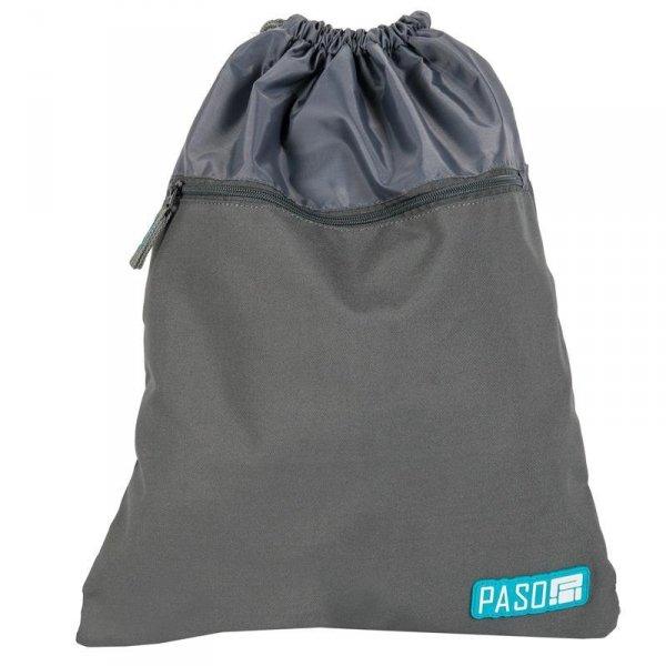 Worek na Buty Obuwie Gimnastyczny Młodzieżowy Plecak Szary 17-713UP
