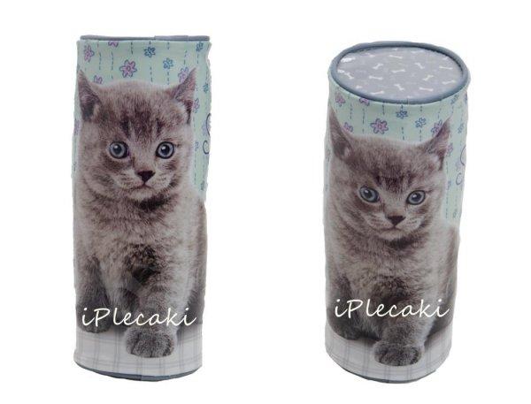 Piórnik Kot Szkolny Tuba dla Dziewczyny Kotek